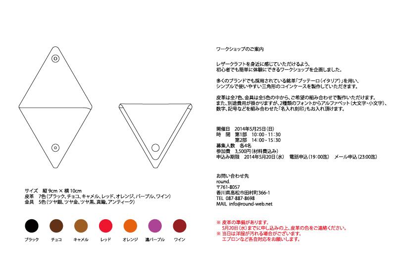 ワークショップ(三角コイン)
